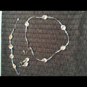 Sterling Silver Swarovski Crystal Necklace Set